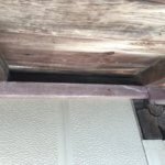 コウモリ侵入口の屋根下